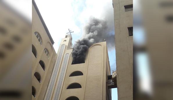 حريق في كنيسة «دميانة» بالهرم