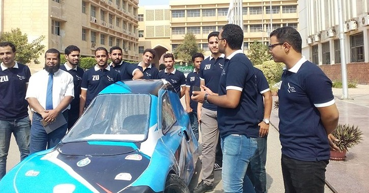 طلاب هندسة الزقازيق ينجحون في تصنيع سيارة كهربائية