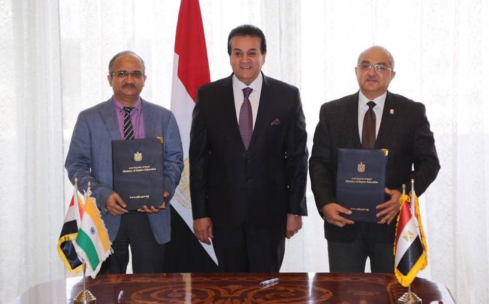 بحضور وزير التعليم العالي.. اتفاقية تعاون بين جامعة أسيوط والمعهد الهندي للتكونولجيا