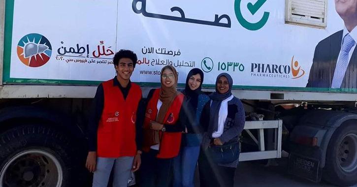 انطلاق حملة «١٠٠ مليون صحة» في جامعة قناة السويس