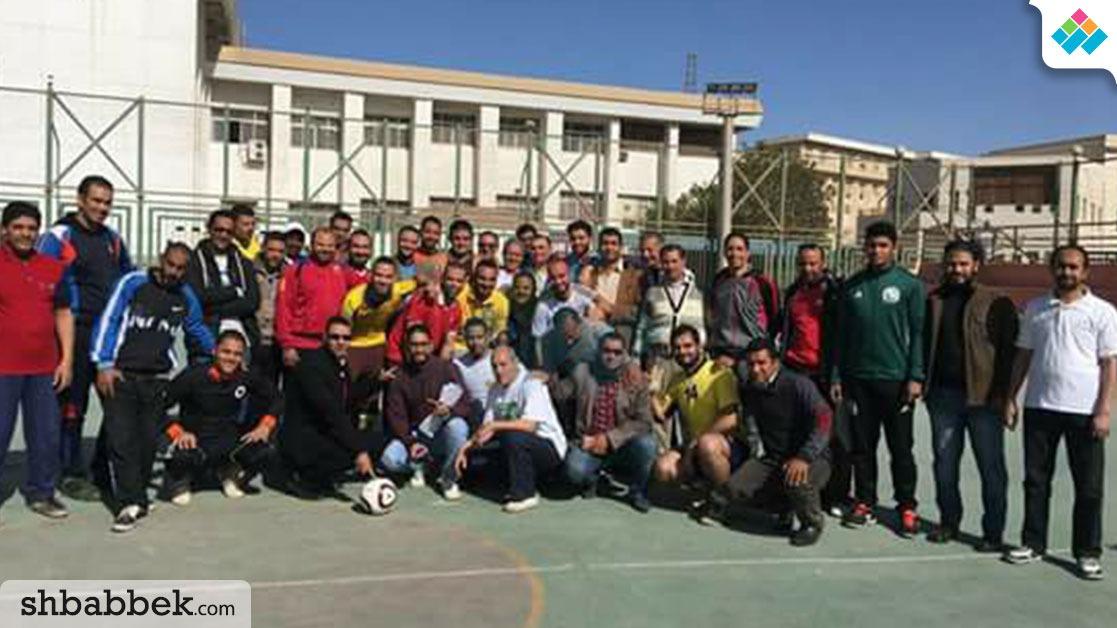 انطلاق دوري كرة القدم للعاملين بجامعة بني سويف