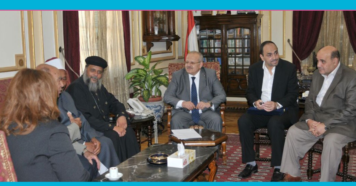 وفد إسلامي مسيحي في مكتب «الخُشت» لتهنئته برئاسة جامعة القاهرة
