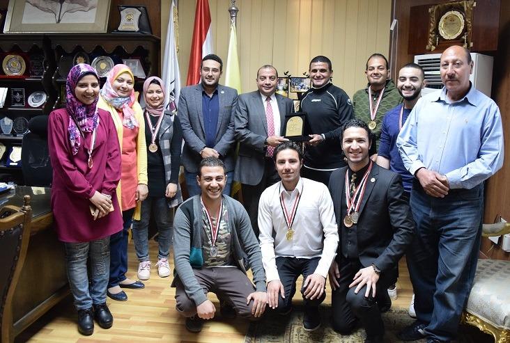 جامعة بني سويف تحصد 8 ميداليات في مسابقة تدويل التعليم العالي