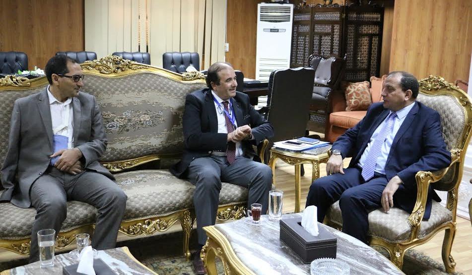 بروتوكول تعاون بين جامعة بني سويف والأكاديمية العربية في ليبيا