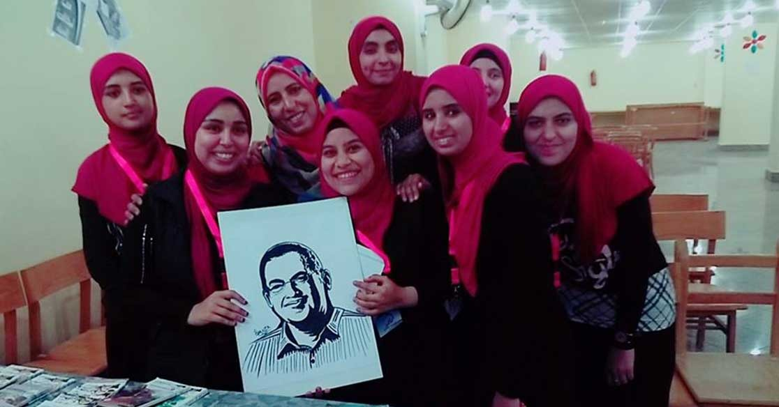 طالبات جامعةالفيوم ينظمن ندوة لتكريم الراحل أحمد خالد توفيق (صور)