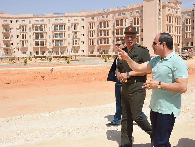بالصور.. تفاصيل جولة السيسي في العاصمة الإدارية اليوم