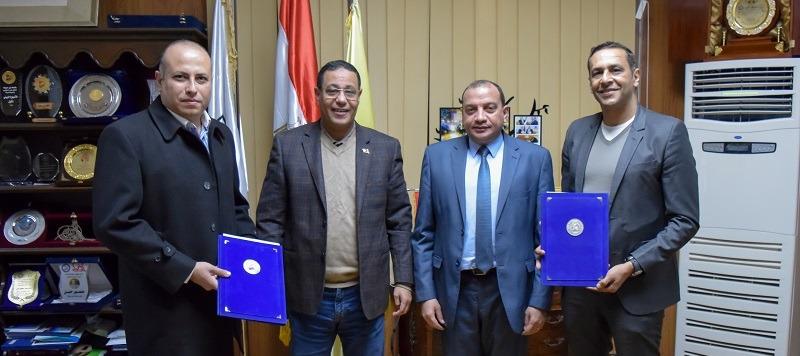 تدريب طلاب جامعة بني سويف في مجموعة تيتان مصر للأسمنت