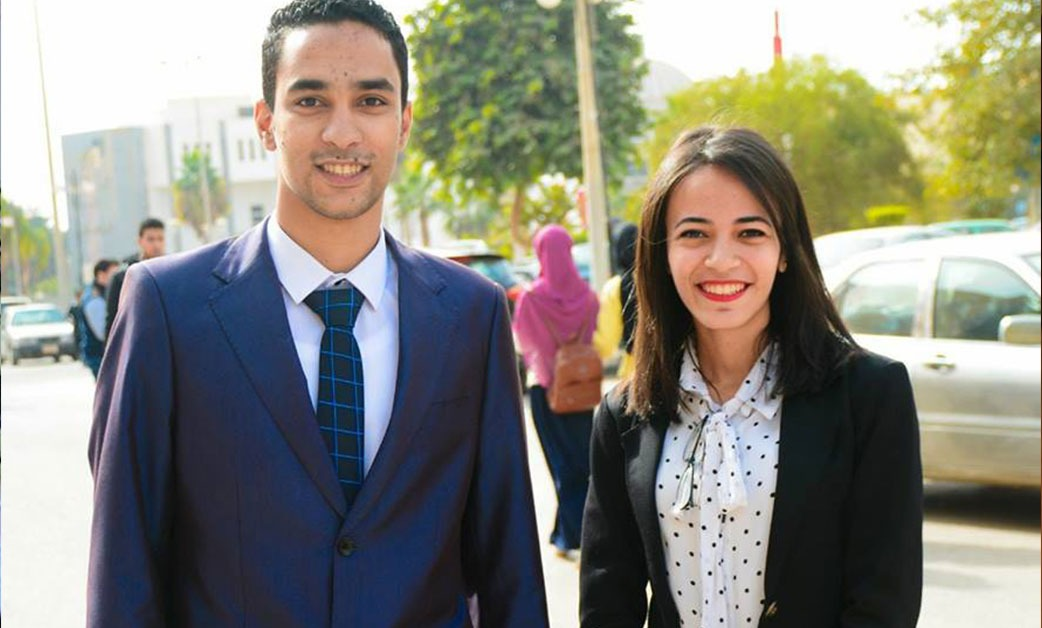أحمد خالد رئيسا لاتحاد طلاب جامعة الفيوم ومونيكا صدقي نائبا