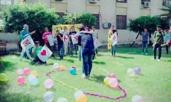 فيديو  خطوبة طالب وطالبة بحرم جامعة طنطا