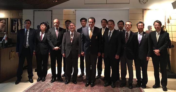 وزير التعليم العالي يلتقي عددا من رؤساء الجامعات اليابانية