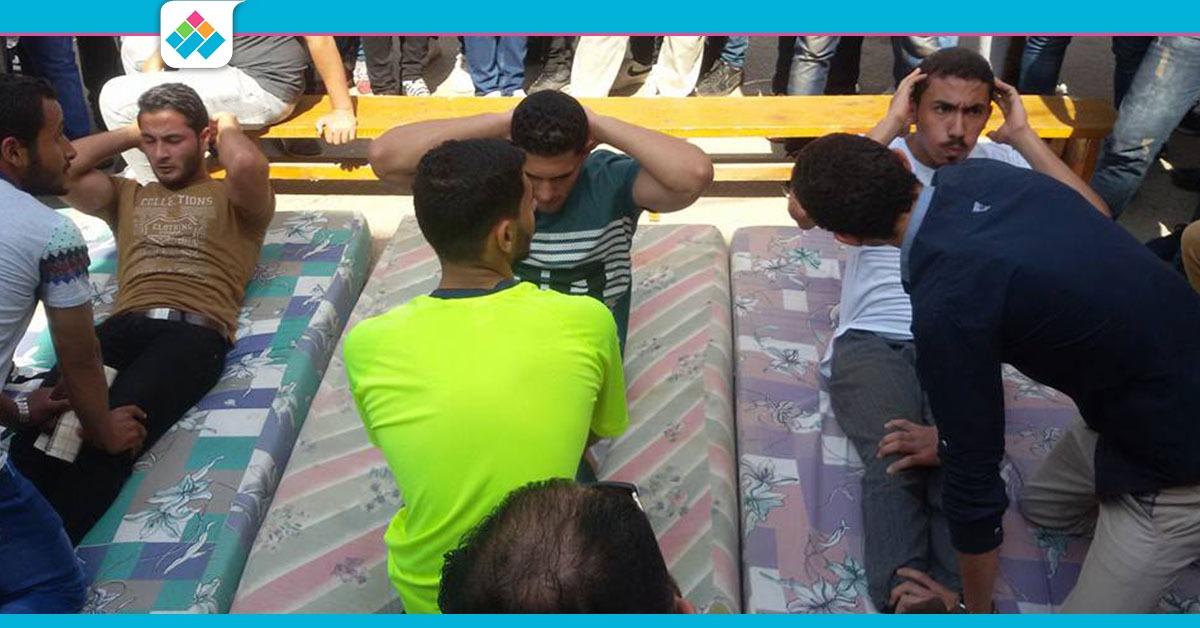 الأول 100 جنيه.. مسابقة «ضغط وبطن» بين طلاب جامعة المنصورة (صور)