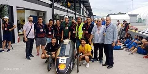 سيارة كهربائية لطلاب بكلية هندسة حلوان تنجح في اختبارات مسابقة عالمية بماليزيا