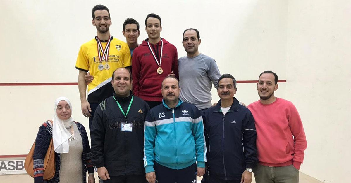 جامعة طنطا تفوز بدرع بطولة الاسكواش في منافسات أسبوع شباب الجامعات
