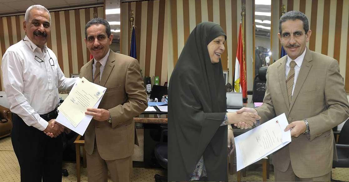 تجديد تعيين مديري رعاية الشباب وشئون التعليم والطلاب في جامعة قناة السويس