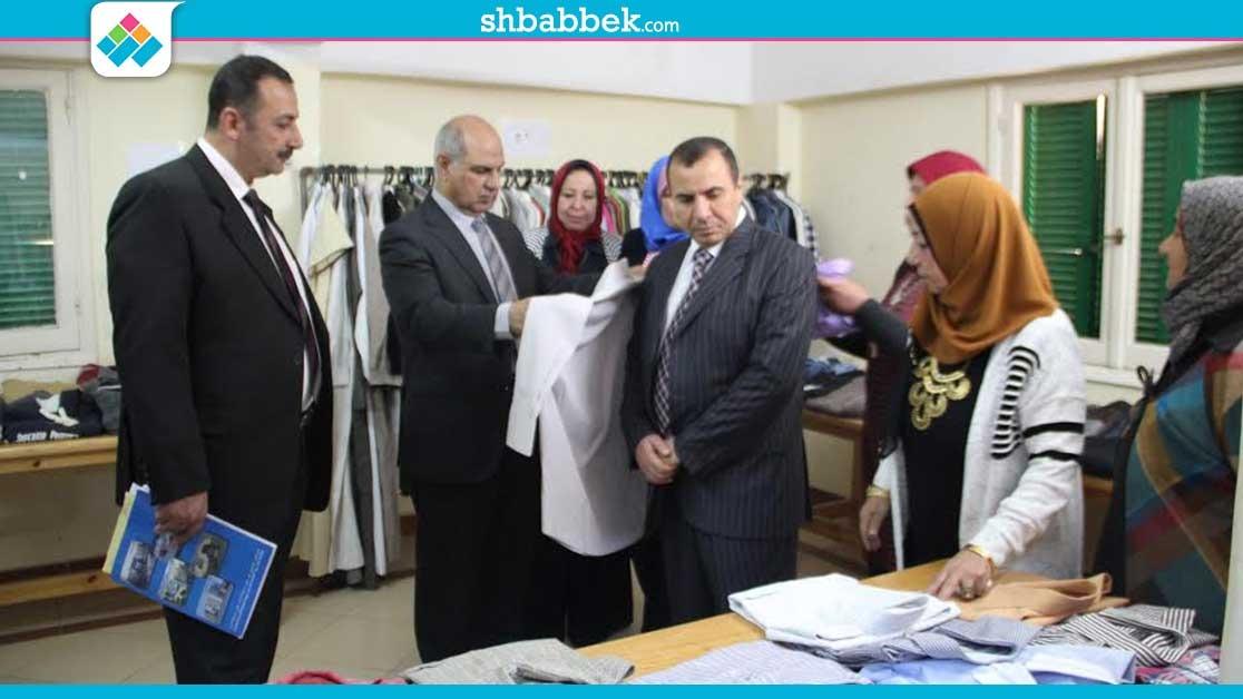 جامعة كفر الشيخ تقيم معرضا للملابس بمدينة الطالبات