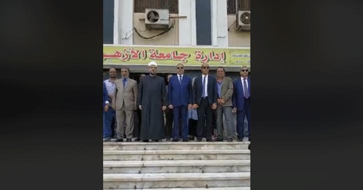 تحية العلم في جامعة الأزهر بحضور وزير الأوقاف