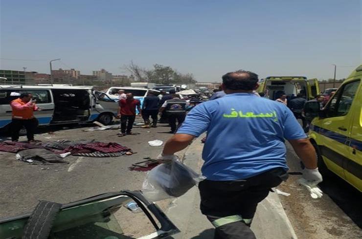 ارتفاع عدد ضحايا حادث «الأوتوستراد» اليوم إلى 16