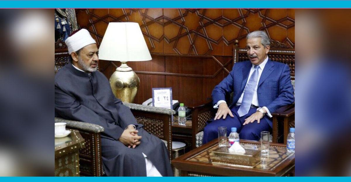 سفير السعودية بالقاهرة يشيد بجهود شيخ الأزهر في العمل على إقرار السلام