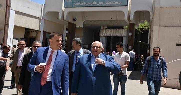 رئيس جامعة عين شمس يفتتح تجديدات وحدة الأشعة التداخلية بتكلفة ٢٥ مليون جنيه