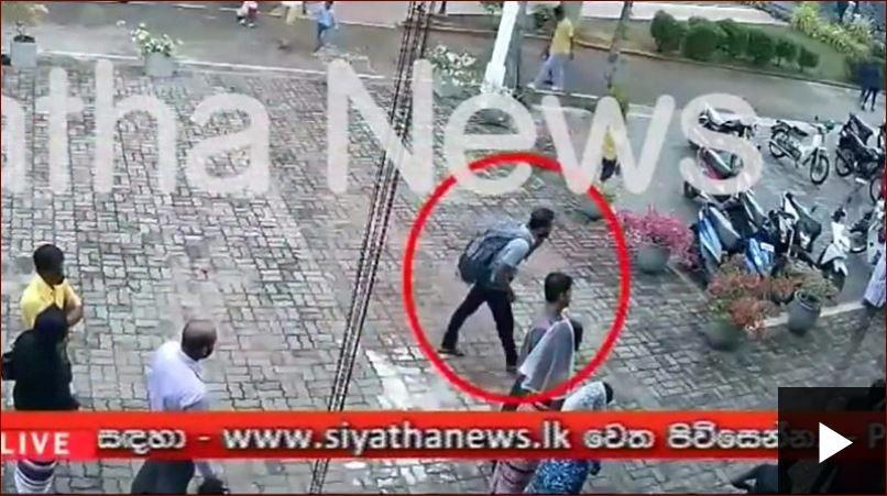 شاهد لحظة دخول انتحاري لتفجير كنيسة «سانت سباستيان» في سيرلانكا