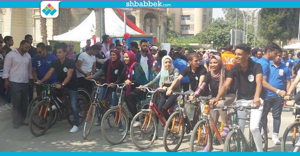 صور| ماراثون «عجل» بحرم جامعة عين شمس