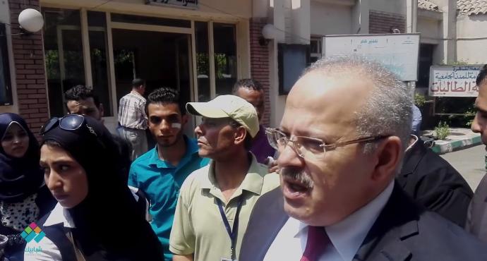رئيس جامعة القاهرة ورسائله للطلاب الجدد