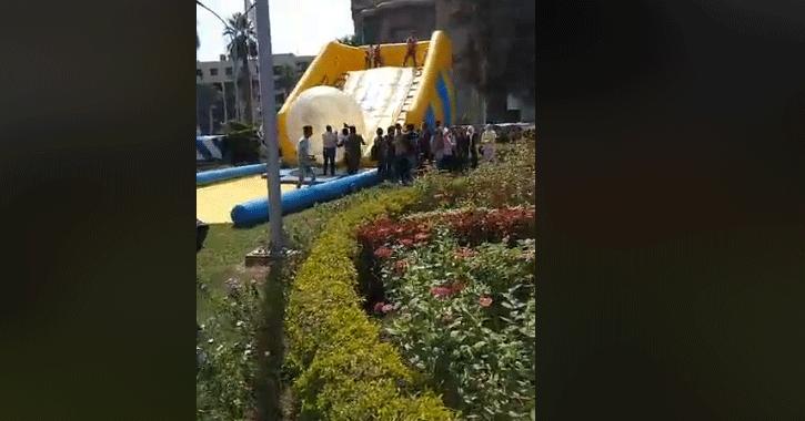 استقبال جامعة عين شمس للطلاب في أول يوم دراسة