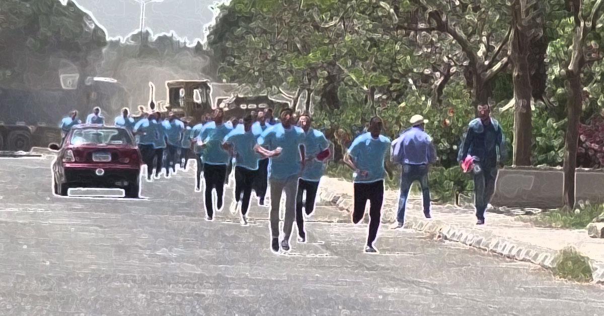 3 طالبات يتفوقن في سباق جري جامعة المنيا