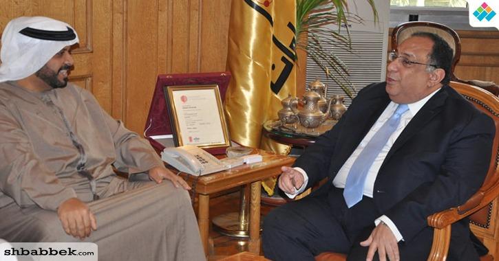 رئيس جامعة حلوان يوقع مذكرة تفاهم مع أكاديمية العلوم الشرطية بدولة الإمارات (صور)