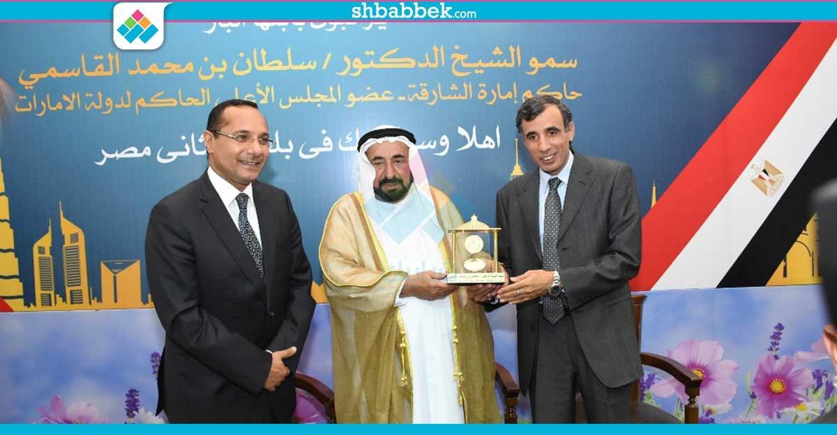 حاكم الشارقة يزور كلية الزراعة جامعة القاهرة