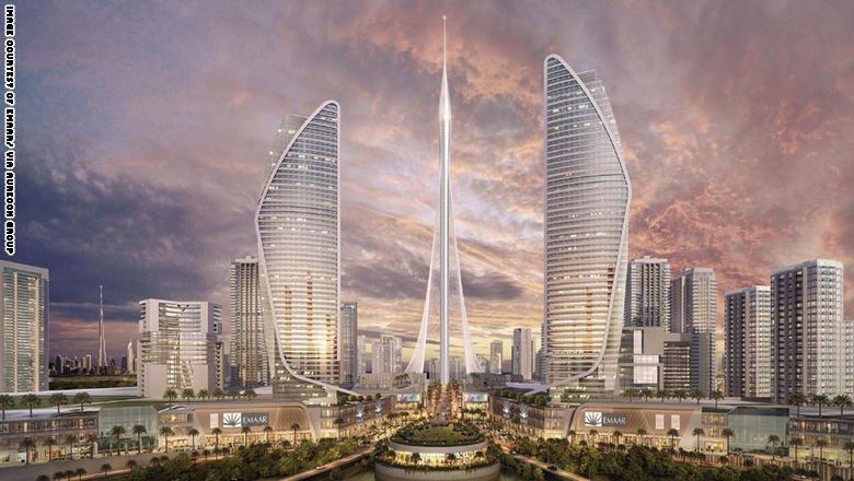 صور| «خور دبي».. أين وصلت رحلة بناء أطول برج في العالم؟