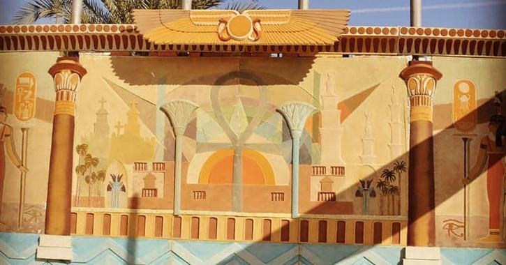 طلاب جامعة أسيوط يصممون «جدارية» بطول 8 متر