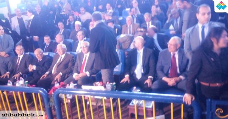 طلاب جامعة المنصورة يهتفون باسم محمود الخطيب في حفل «800 سنة منصورة»