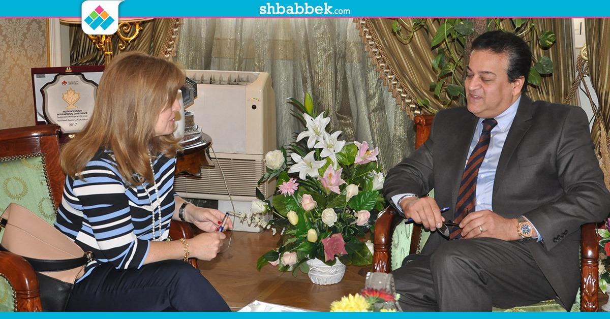 وزير التعليم العالي لسفيرة البرتغال: لدينا فرص استثمار في العاصمة الإدارية