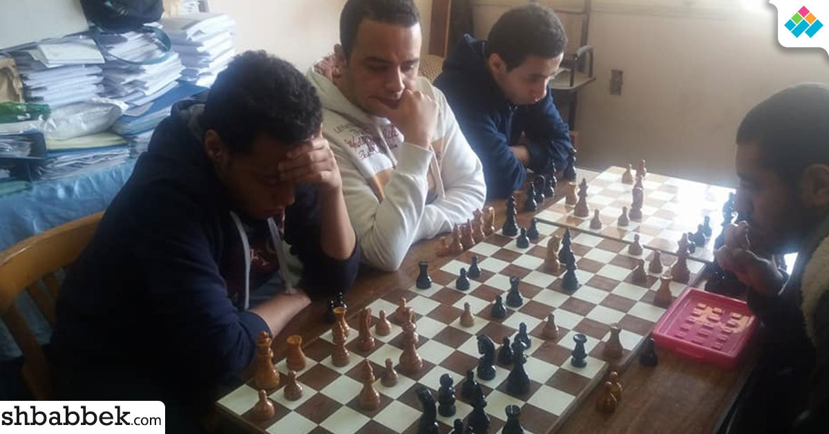 بالصور.. اتحاد طلاب جامعة عين شمس ينظم بطولة للشطرنج