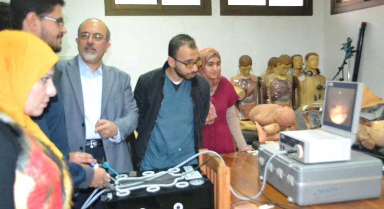 ورشة عمل حول المناظير الجراحية المتقدمة في كلية طب طنطا