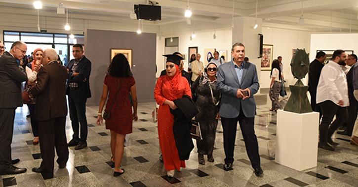افتتاح أول معرض للفن التشكيلي المصري بالجامعة الألمانية
