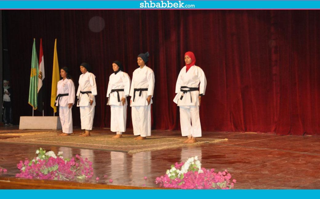 بعروض رياضية.. افتتاح وحدة مناهضة التحرش في جامعة المنيا