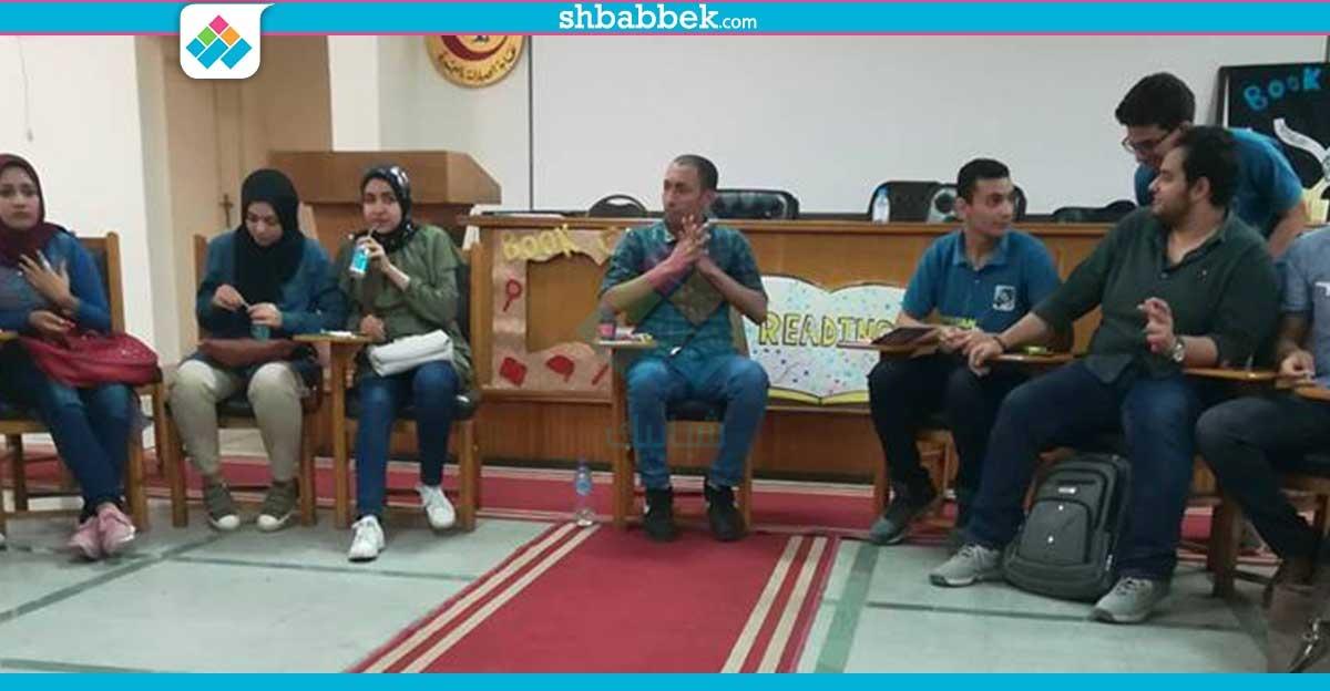 الاتحاد المصري لطلاب الصيدلة بجامعة دمنهور يستضيف الروائي محمود حافظ