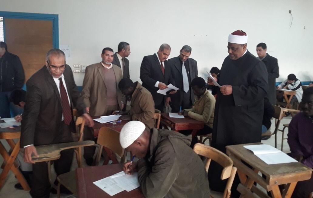 وكيل الأزهر ورئيس الجامعة يتفقدان لجان الامتحانات