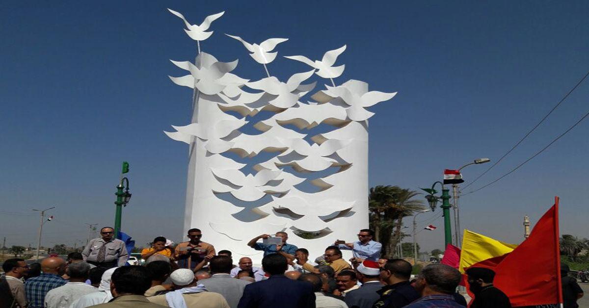 جامعة المنيا: تجديد مداخل المحافظة بتصميم وتنفيذ كلية فنون جميلة (صور)