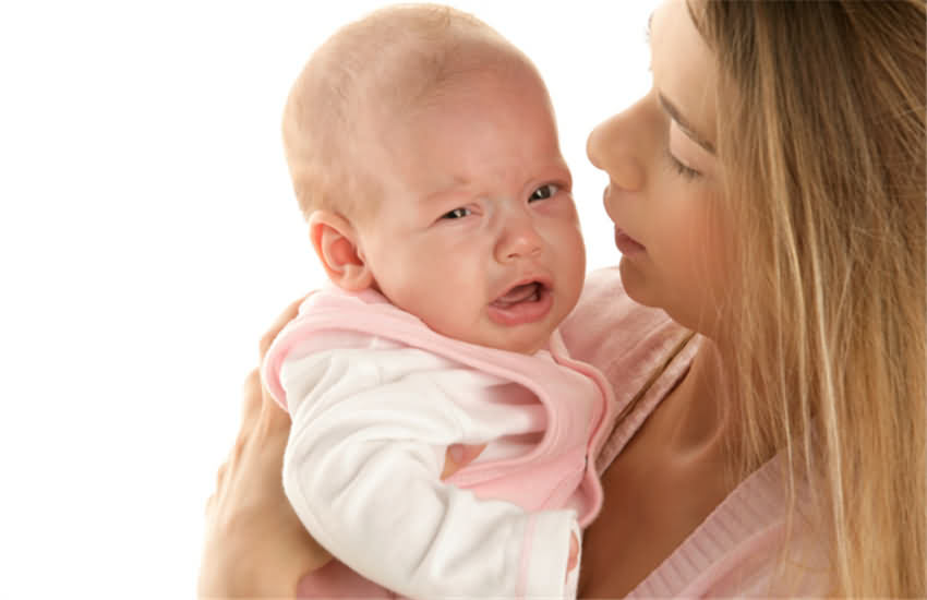 المغص عند الطفل الرضيع